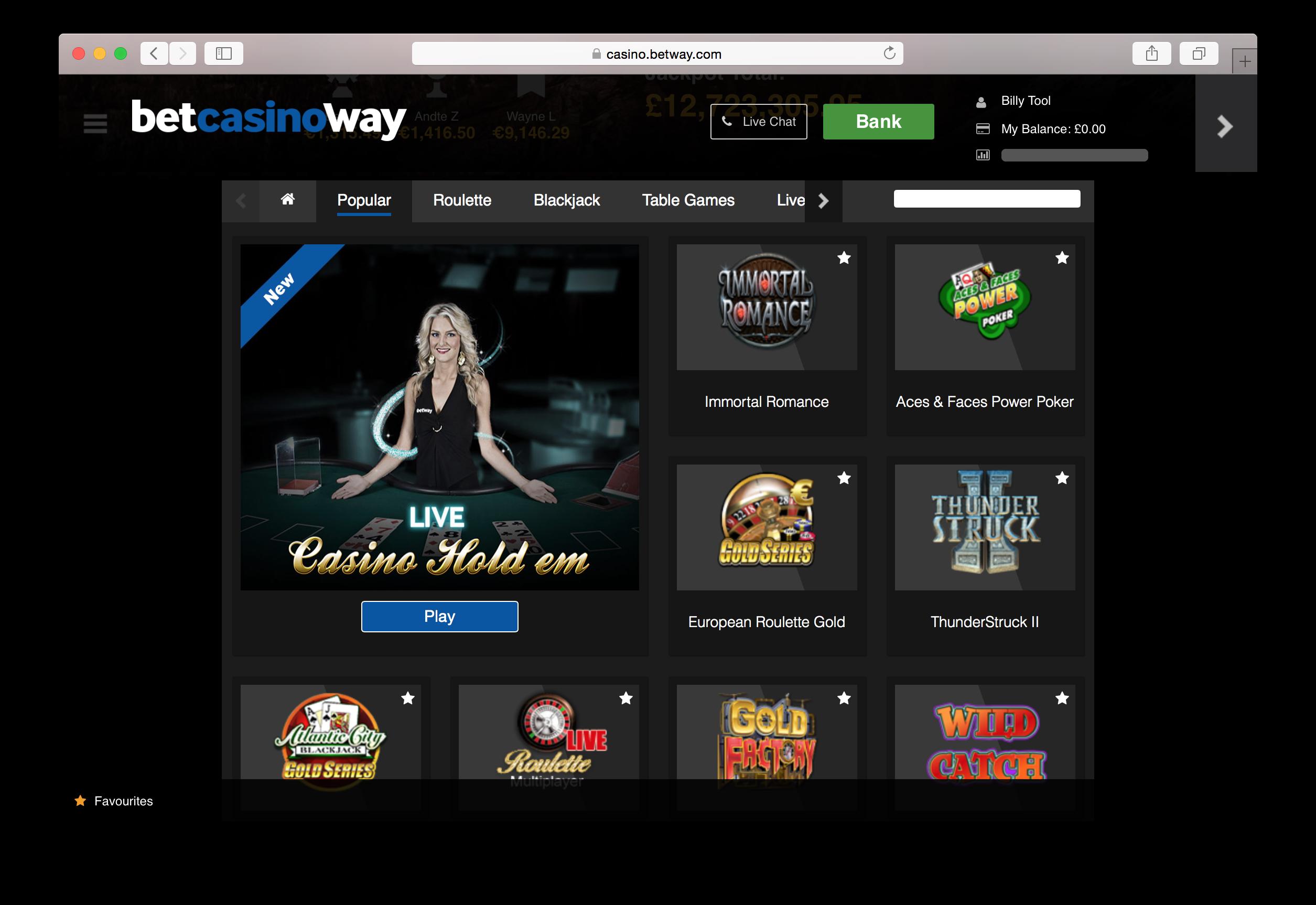 Betway casino free 10